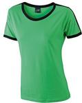 Damen-Kontrast-T-Shirt