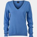 Damen Sweatshirt mit V-Ausschnitt