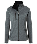 Damen Softshelljacke in Melange-Optik